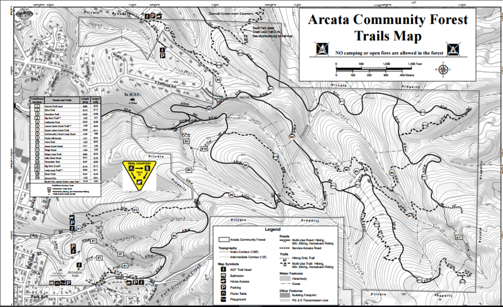 Arcata Community Forest Map